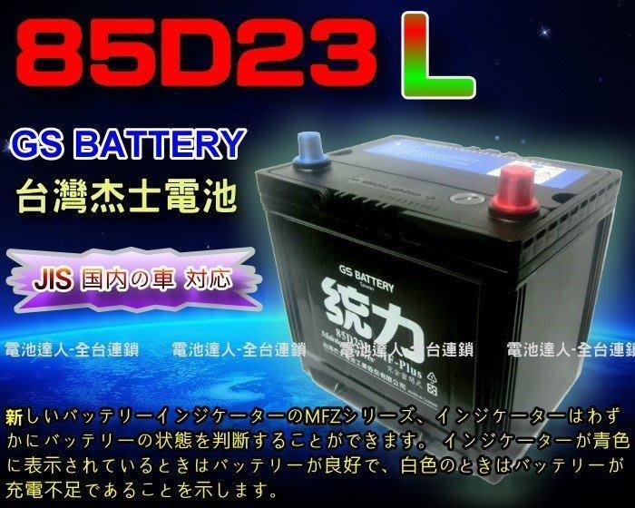 【鋐瑞電池】GS 杰士 85D23L 統力 汽車電池 加強款 COLT PLUS FORTIS OUTLANDER