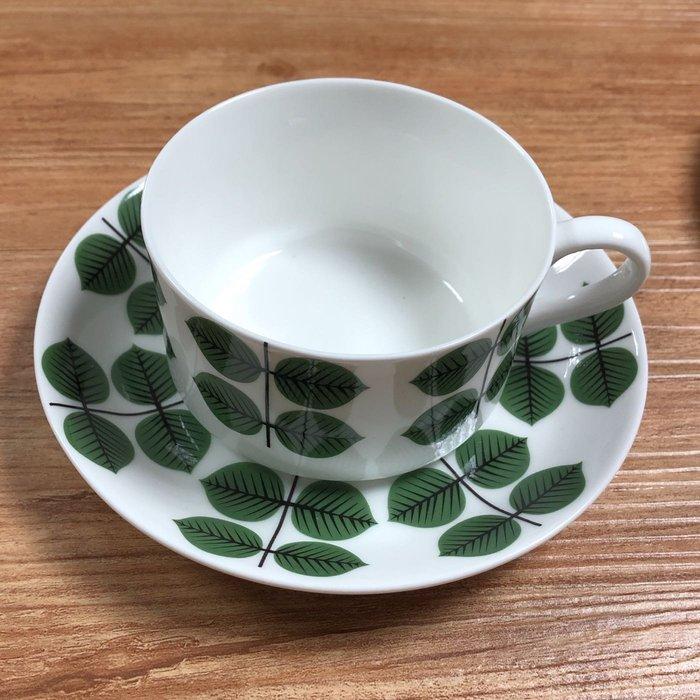【小麥的店】北歐 瑞典 Gustavsberg Berså  Bersa 骨瓷咖啡杯盤兩件組(非老件)