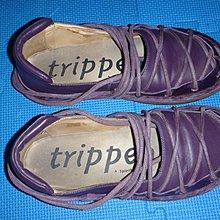 ~保證真品蠻優的 Trippen 紫色經典洞洞鞋款38號皮鞋 娃娃鞋~便宜起標底價標多少賣多少