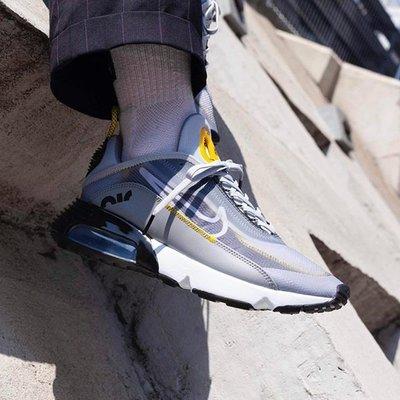 NIKE AIR MAX 2090 灰黑 白 黃 氣墊 Grey Yellow 半透明 慢跑 男鞋 BV9977-002