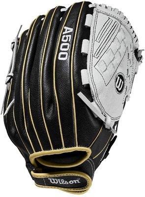 新莊新太陽 Wilson WTA05RF20125 A500 棒壘手套 野手 單片 黑白 特2400