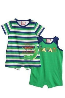 【N's】Baby Togs男童鱷魚無袖連身裝+短袖連身褲裝二件組*另有Old Navy/OshKosh/Cater's