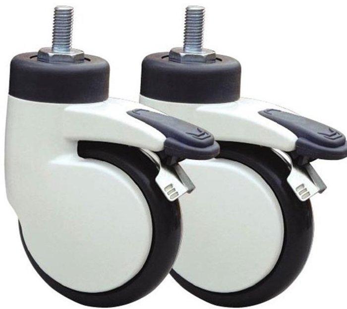 4寸鋁殼靜音煞車輪,絲杆醫用級腳輪 萬向輪/傢俱輪/輪子中控輪,4輪1組價