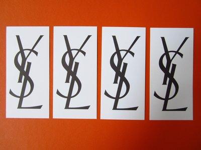法國名牌【SAINT LAURENT】聖羅蘭 長方形 YSL LOGO字樣 香水 試香紙卡 每張$10 保證全新正品/真品