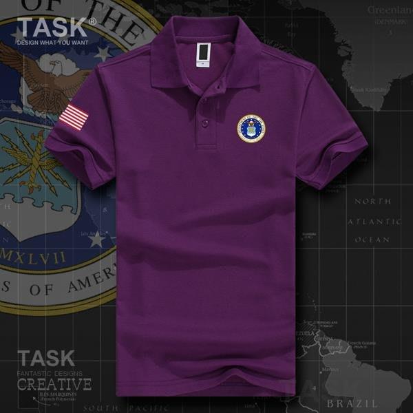 TASK 美國USA空軍飛行員戶外運動短袖t恤特種兵男女翻領POLO衫半袖