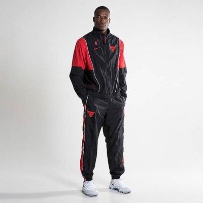 [歐鉉]NIKE NBA CHICAGO BULLS 黑紅 公牛隊 運動套裝 籃球套裝 男生 AH8811-011