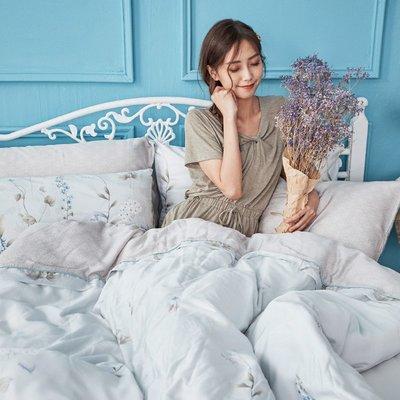 床包兩用被組 / 雙人【微月遠蝶】含兩件枕套  60支天絲  戀家小舖台灣製AAU215