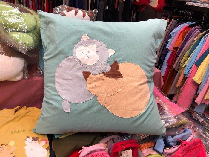 日本卡拉貓~擁抱貓咪純棉拼布抱枕套