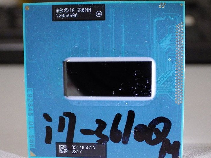 intel處理器CPU正式版I7-3610QM SR0MN 2.3GH筆電SOCKET G2 HM76 HM77晶片適用