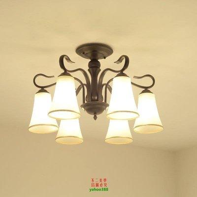 {美學}美式簡約吸頂燈LED北歐客廳燈...