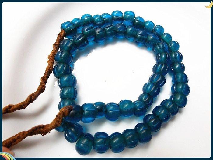 【雅之賞|藏傳|佛教文物】*特賣*尼泊爾老琉璃珠11-12mm一串~Q1931