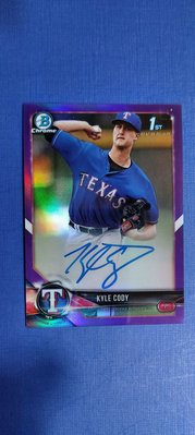 Kyle Cody 2018 Bowman Chrome Purple REF. RC Auto 限量250張