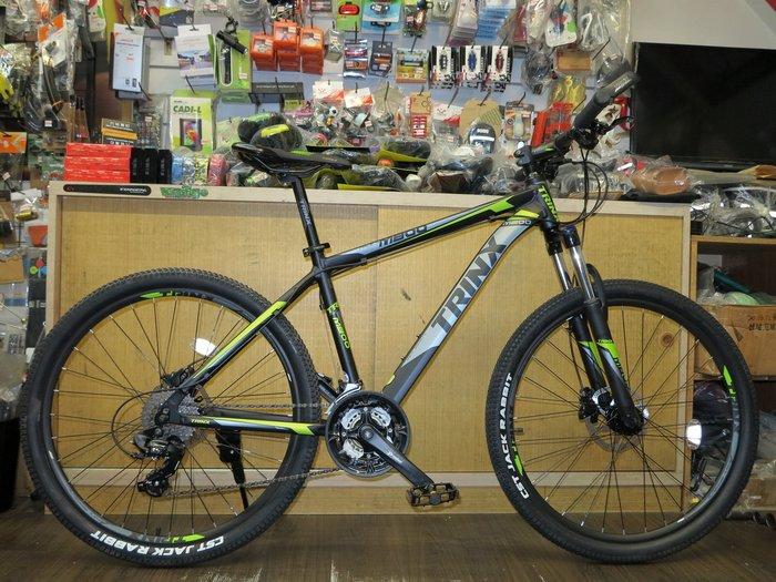 【冠鑫自行車】愛爾蘭 TRINX M800 26吋 27速 SHIMANO 油壓碟煞 鋁合金 登山車 黑/綠 高雄