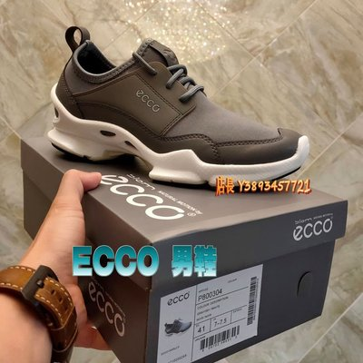 正貨ECCO BIOM C 男士運動鞋 ECCO休閒鞋 BIOM系列鞋底 舒適慢跑輕便透氣 緩沖減震 個性 800304