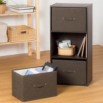 【橫式抽屜置物盒】三層抽屜置物盒 米白/咖啡 兩色可選 生活大師 層櫃通用型