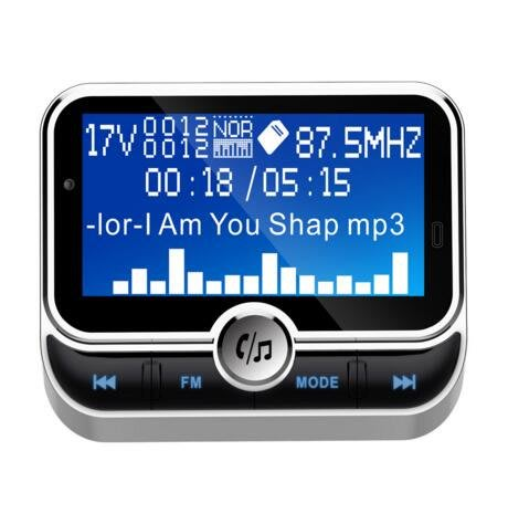 新款BC32車載藍牙mp3 大屏插卡多功能汽車fm發射器 車載mp3藍牙免提點煙器式車載MP3#9121