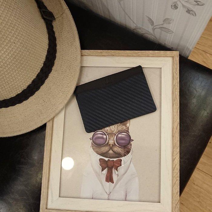 dunhill經典碳纖維小牛皮卡片夾 名片夾