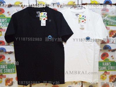 「AMBRAI.com」 UNIQLO x KAWS 芝麻街 聯名 刺繡 素T Logo Tee UT 短袖 短T T恤