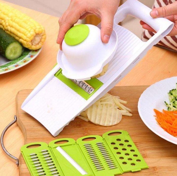 🌼荳荳二館🌼降價促銷 新款多功能廚房切菜器5件套