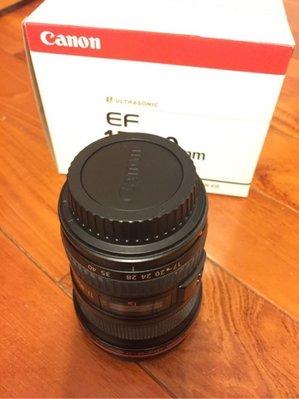 Canon EF 17-40mm F4 L USM 中古二手 全幅廣角小三元 恆定光圈,大降價,最後降價!