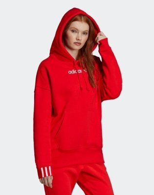 》P.S 》ADIDAS ORIGINALS COEEZE HOODIE 紅白 休閒 帽T 女款 DU7183