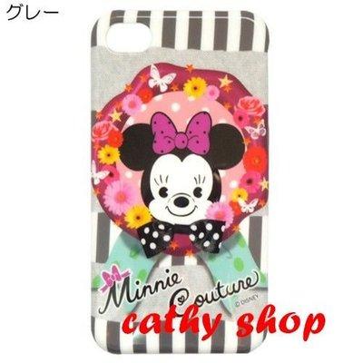*凱西小舖*日本進口迪士尼正版MINNIE COUTURE米妮熊I PHONE4/4S保護殼*特價出清