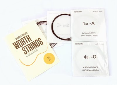 【山姆 樂器工作室】買1送1!!日本Worth String 烏克麗麗咖啡弦 BT 26吋