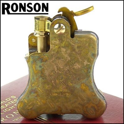 ☆哈洛德小舖☆全新【RONSON】Banjo系列-燃油打火機-Wild Brass仿舊款 NO.R01M006