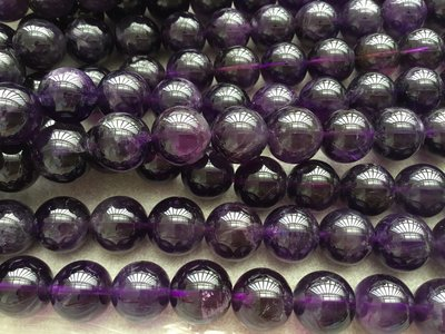 12mm 烏拉圭紫水晶 ,漂亮 散珠 🔮天然水晶 無優化 DIY材料 【Flower翡翠水晶】