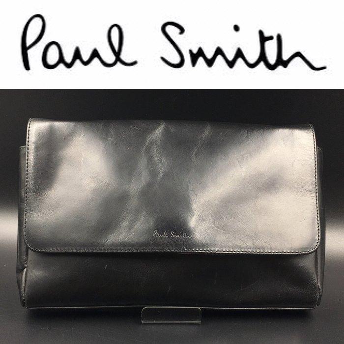 【皮老闆】 二手真品 英國精品 Paul Smith 手拿包 手提包 腰包 肩背包 藍(一)
