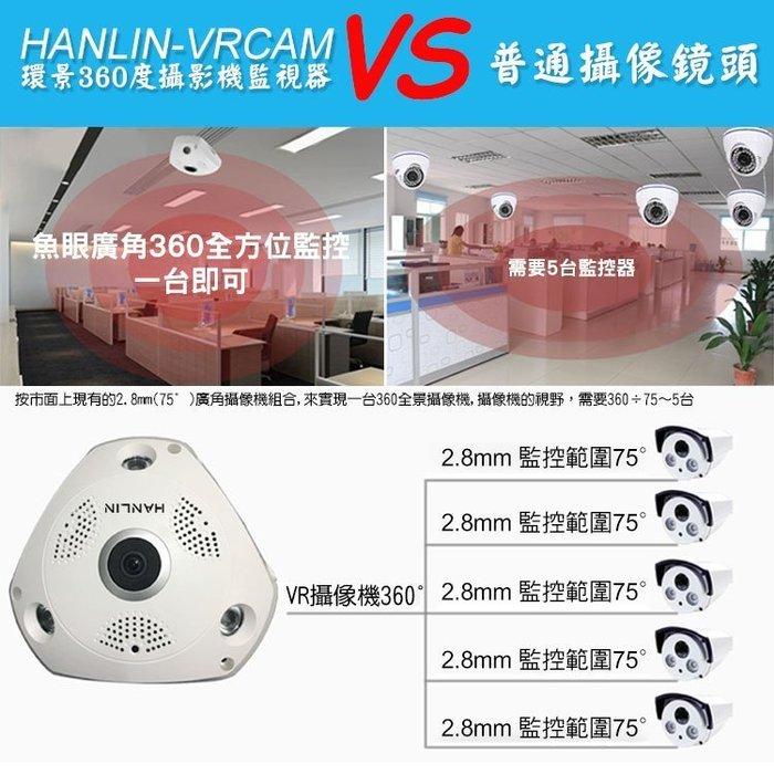 【全館折扣】 手機搖控 環景監視器 360度 環景攝影機 夜視攝影機 HD 無死角 HANLIN-VRCAM