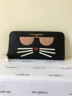 KARL Lagerfeld 卡爾 經典貓咪🐱長夾-黑色