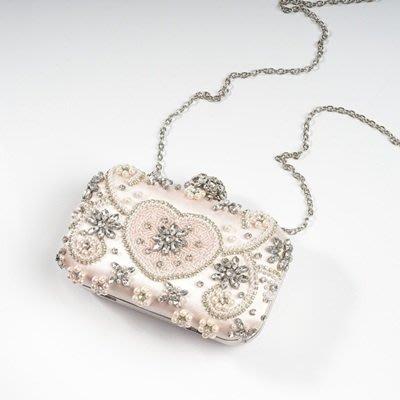 晚宴 包 鑲鑽手拿包-甜美氣質精緻串珠女包包73su1[獨家進口][米蘭精品]