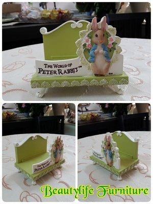 美生活館 -- 全新 彼得兔 PETER RABBIT 綠色 蕾絲系列---名片座/便條紙座/信件座/手機座-送禮自用