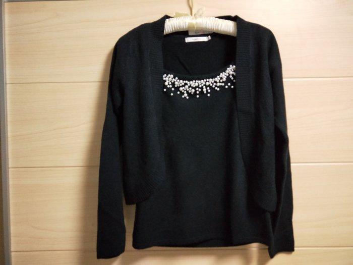 丹丹衣坊--epabis品牌二件式針織衫(黑色)