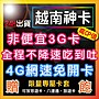 """越南網卡 8天 4G網路 高速不降速 """"非便宜3..."""