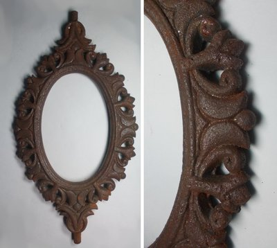 【 樵 山 棧 】老件~鑄鐵DIY鏡框、鐵壺墊