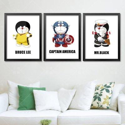 C - R - A - Z - Y - T - O - W - N 小叮噹哆啦A夢創意李小龍大聯盟裝飾畫兒童房裝飾畫掛畫
