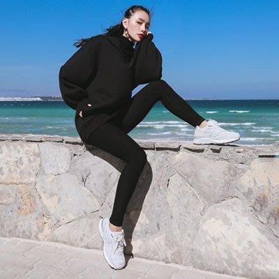 運動 褲 長褲-黑色高腰彈力訓練女褲子73ul28[獨家進口][米蘭精品]