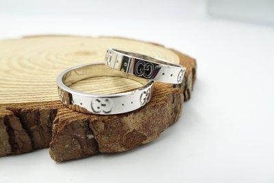 %玉承珠寶%GUCCI 18K白K金戒指A265(貴金屬買賣.珠寶設計訂做.黃金買賣)