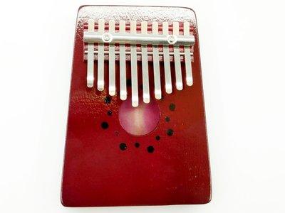 【老羊樂器店】10音 拇指琴 卡林巴琴 kalimba 手指鋼琴 奧福樂器 ORFF 紅色 原木  姆指琴