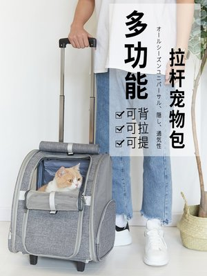 【寵物用品】ostracod大號貓包透氣雙肩大容量便攜帶背包貓咪外出包寵物拉桿箱