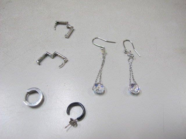二手舖 NO.2900 造型耳環 耳針 4對一組 便宜賣 首飾飾品