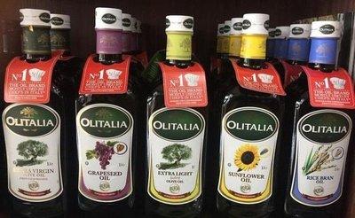 下標前問庫存 Olitalia 奧利塔 純橄欖油/玄米油/葡萄籽油/葵花油 1000mlx4瓶 4大好油品味組