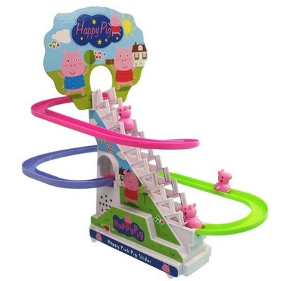 小豬爬樓梯 聲光軌道溜滑梯 A322-19(附電池)/一個入(促220)-CF130410