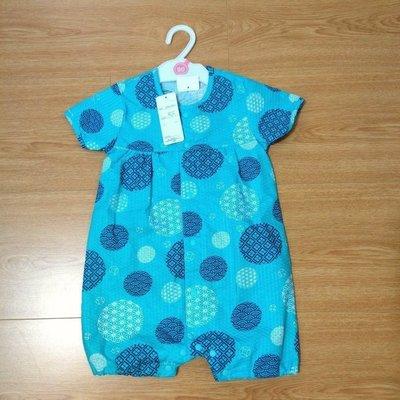 日本代購 西松屋嬰幼兒童裝 日本浴衣90cm 屁衣款 100%棉 居家服/睡衣 現貨 TAKI MAMA