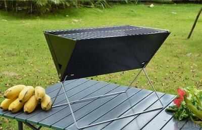 【起點3C】燒烤爐-可折疊燒烤爐X型交叉線腳野外烤肉爐子加厚折疊架子QD8862