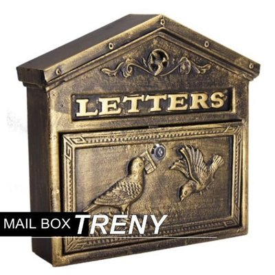 【TRENY直營】自然風情-和平鴿鑄鐵信箱 大型信箱 鑄鐵信箱 信件箱 意見箱 7527