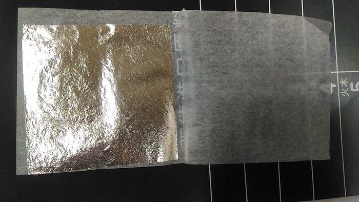日本 純銀箔 好拿 4.5cm 正方 100張 銀箔 手創 文創 精工
