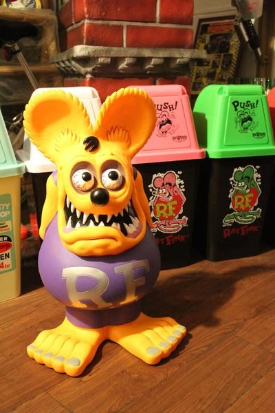 (I LOVE樂多)RAT FINK老鼠芬克系列60CM大存錢桶(橘色)送人擺飾 裝飾